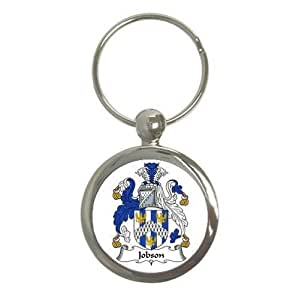 Jobson Family Crest Round Key Chain Coat of Arms Keychain