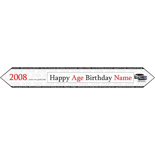 2008 PERSONALIZED TABLE BANNER (2008 Tableware)