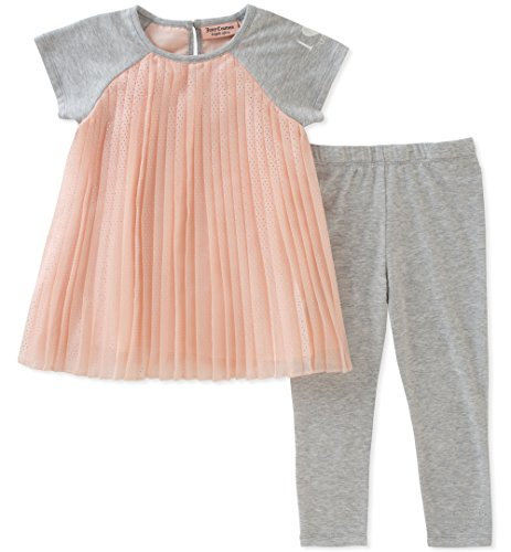 - Juicy Couture Girls' Big 2 Pieces Tunic Set, Gray/Pink, 8/10