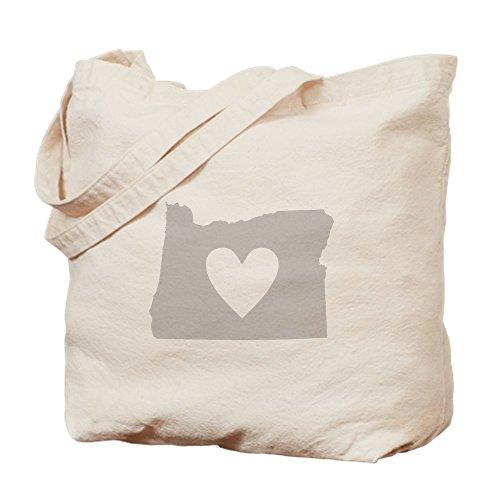 CafePress - Heart Oregon - Natural Canvas Tote Bag, Cloth Shopping - Shopping Eugene Oregon