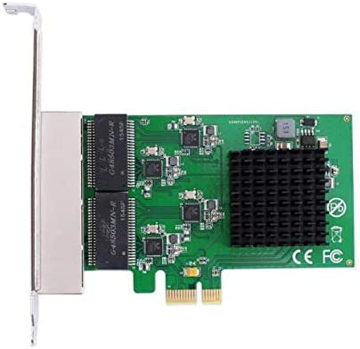 Calvas PCI-Express 4 ports Gigabit Ethernet Controller Card RTL8111 chips with low profile bracket