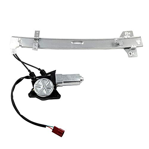 (ROADFAR Power Window Regulator and Motor Replacement Parts fit for 1990-1993 Honda Accord Rear Left Drivers Side 72750-SM4-J01 741-711)