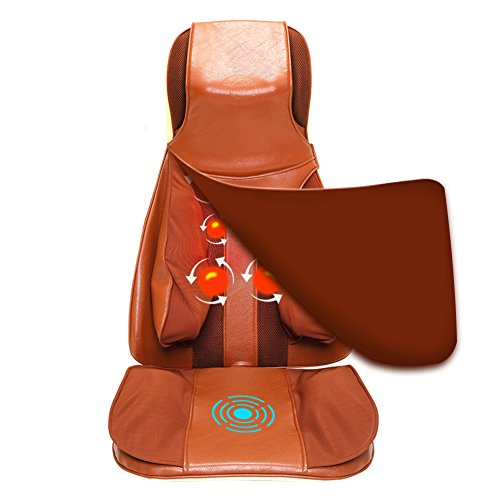 GESS®17 Shiatsu Massage Cushion with Heat Back Full Body Back Neck Should Massage Seat Chair,for Home or Office (Shiatsu Select Cushion Massaging Therapist)