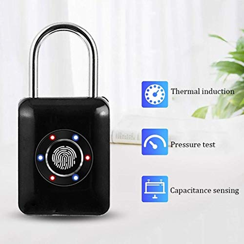 RMXMY Travel Locks Combination Luggage Locks Fingerprint Padlock, Suitable for House Door, Suitcase, Backpack, Gym, Bike, Office (Color : A) by RMXMY (Image #2)