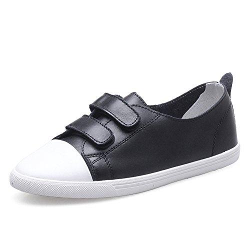 Primavera Zapatos De Cuero Blanco,Zapatos De Mujer Ocio Coreano,Zapatos De Velcro Hembra,Los Zapatos De Las Mujeres C