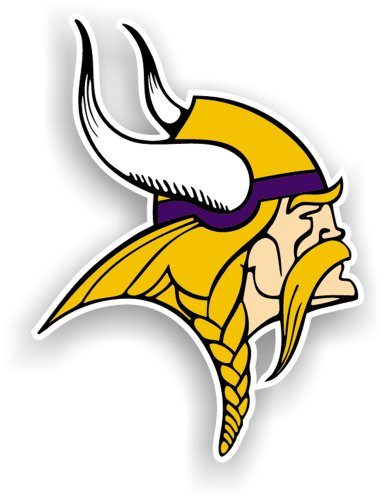 Fremont Die NFL Minnesota Vikings 12-Inch Vinyl Logo Magnet by Fremont Die