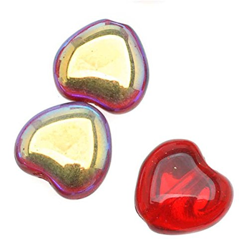 Shaped Beads 8.5x7.5mm 'Ruby AB' (25) ()