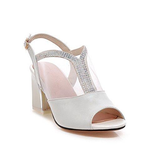 1TO9 Girls European Style Kitten-Heels Polyurethane Sandals White