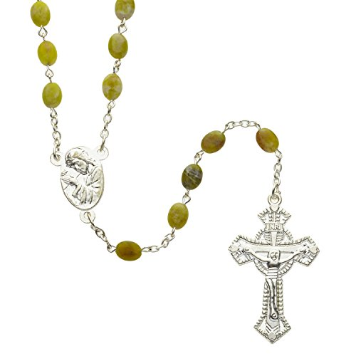 Connemara Marble Rosaries - Connemara Marble Rosary, with Traditional 'West of Ireland' Crucifix Design