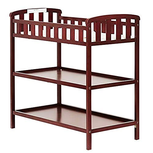 Dream On Me Emily Changing Table, Cherry with Two Sided Contour Changing Pad, - Cherry 2 Bed Sided