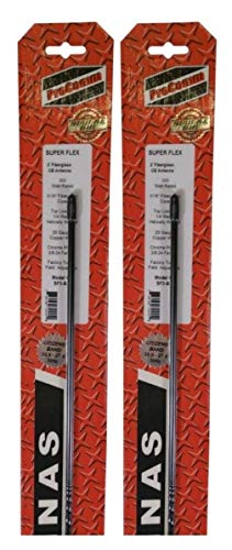 (Lot of 2) Procomm SF4-B 4ft Super Flex CB Radio Fiberglass ()