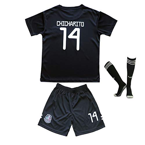 a36008c10 2019 Copa America Soccer National Team Argentina Mexico Brazil Messi  Chicharito Neymar Jr. Replica Kids Jersey Kit : Shirt, Short, Socks Youth  Sizes (Mexico ...