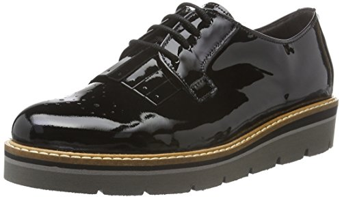 Gabor Shoes Fashion, Zapatos de Cordones Oxford para Mujer Negro (Schwarz 97)
