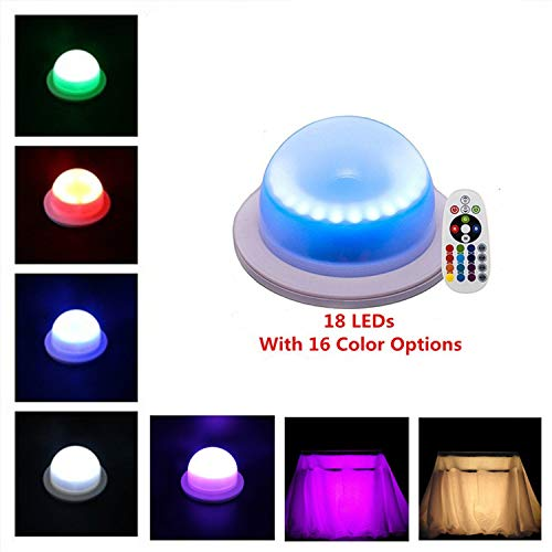 LACGO 16 Color Options Remote Control Chargable Waterproof Swimming Pool Light, with18 Bright Multi-Colored LEDs, LED Garden Corridor Night Light, for Home, Wedding Decor(Pack of 1) -