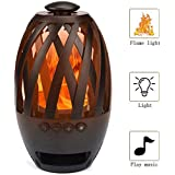 VINCILEE LED Flame Speaker Wireless Bluetooth Speaker Tiki Torch Lights Outdoor Portable Stereo Speaker with HD Audio and Enhanced Bass for iPhone/iPad/Android(BT4.2)