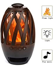 LED Flame Speaker Wireless Speaker Tiki Torch Lights Flickering Flame Create a Perfect Evening Outdoor Mood Extensible Storage TF Brings You Interesting Outdoor Trips and Parties