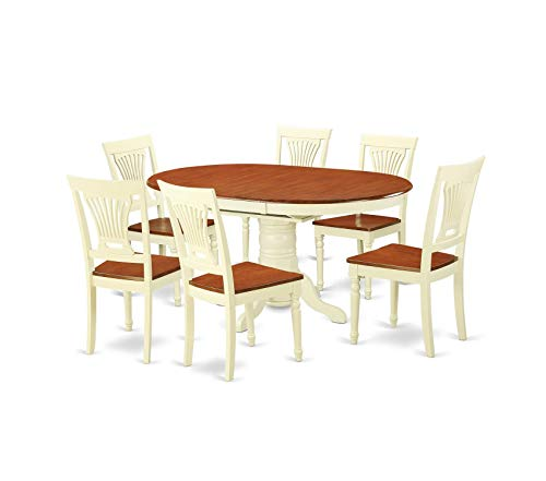 (Deluxe Premium Collection 7-Piece Dining Table Set Decor Comfy Living Furniture)