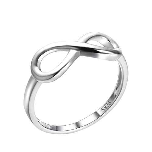 RongXing Jewelry Girls 925 Sterling Silver Heart Ring Wedding Engagement Rings Size (Girl From Lord Of The Rings)