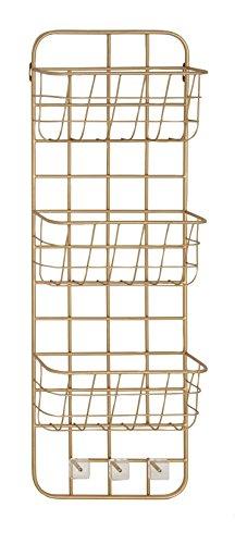 Deco 79 45851 Basket Wall Rack Gold