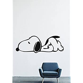 Amazon Com Charlie Brown Snoopy Wall Graphic Decal
