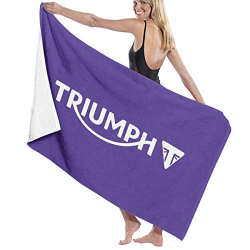 Ruige Hongke Towels Triumph Motorcycles Daytona Logo White Women's Bath Towel Shower White One ()