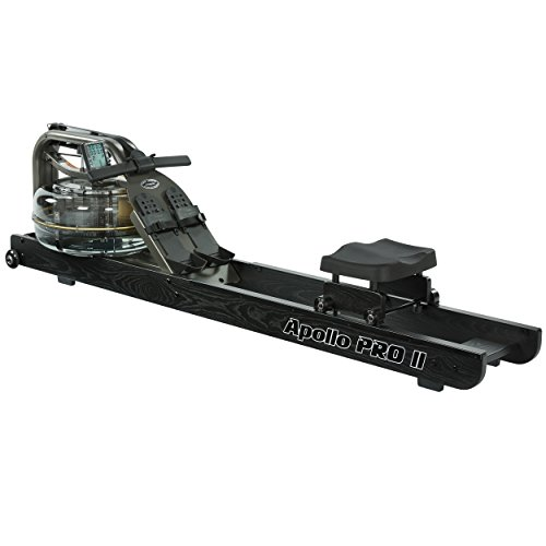 (First Degree Fitness Indoor Water Rower with Adjustable Resistance - Apollo Pro II Black Reserve)