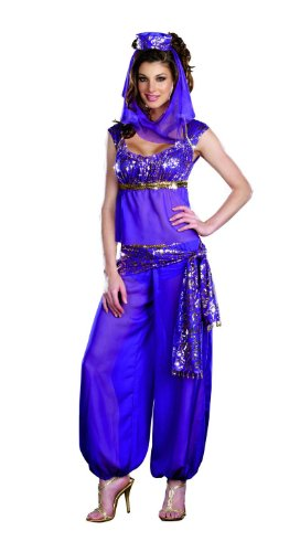 [Dreamgirl Women's Ally Kazam Costume, Purple, Small] (Sexy Genie Costumes)