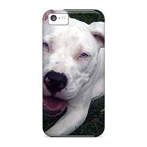 Apple Iphone 5c YEP25286OLKB Custom High Resolution Beautiful White Pit Bull Image High Quality Cell-phone Hard Cover -TimeaJoyce