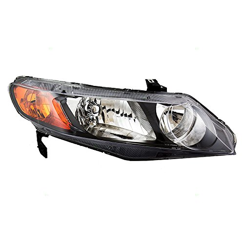 Lamp Park Amber Lens - Passengers Headlight Headlamp with Amber Park Lens Replacement for Honda Civic Sedan 33101SNAA02 AutoAndArt