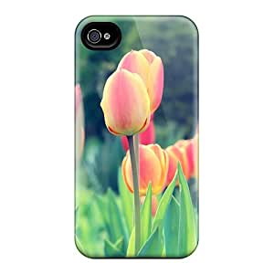 Durable Protector Case Cover With Easter Tulips Hot Design For Iphone 5/5s