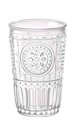 Bormioli Rocco Romantic Water Glass, 10.25 oz., Set of 6 , Clear