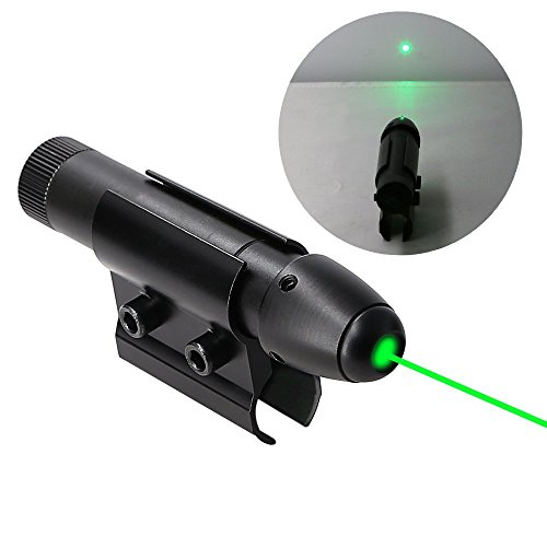 (Higoo® Powerful Green Laser Dot Sight, Military Tactical Hungting Green Laser Scope, Green Laser Pointer Presenter Pen Aiming Sight)