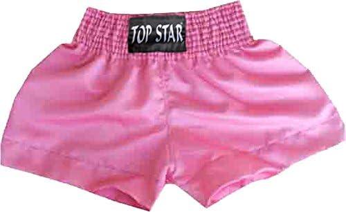 Pantalones de Thai Boxing Muay Thai Short para Girls en Rosa STM32 by ST Thai Short