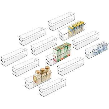 Amazon Com Mdesign Plastic Stackable Food Storage