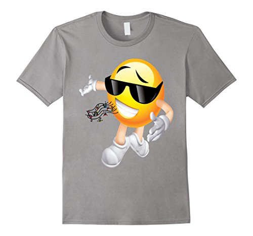 Mens MC DJ Emoticon T Shirt 4 Medium Slate (Pitch Perfect Costume Ideas)