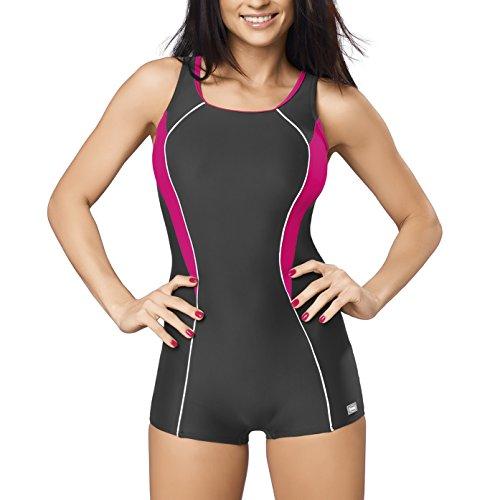 GWINNER Women's Isabel Boyleg One Piece Athletic Swimsuit - 4XL - - Uk Swimwear Racing