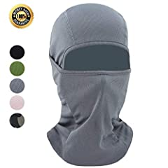 Three equipments in one -- 1 balaclava = 1 face mask + 1 hat + 1 scarf. They can be also used as helmet liners without any trouble. So surely they serve a lot of purpose and will never forget to keep you warm.The premium soft fabrics(88% poly...