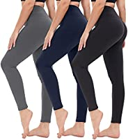 GAYHAY 3 Pack High Waisted Leggings for Women - Opaque Slim Tummy Control Pants for Yoga Workout Cycling Runni
