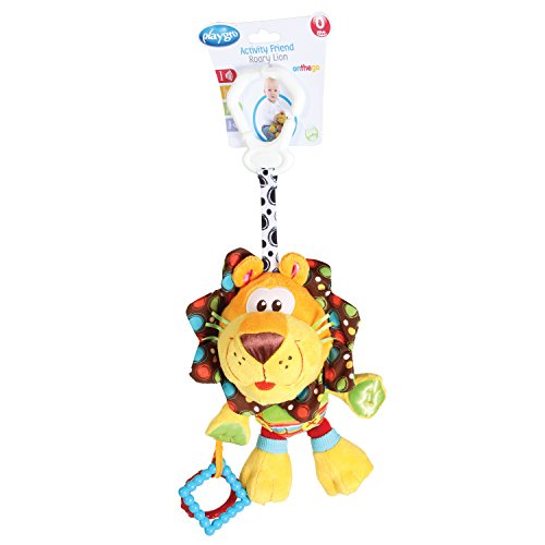 41OiecpgKDL - Playgro 0181513 My First Activity Friend for Baby, 10 Inch, Roary Lion