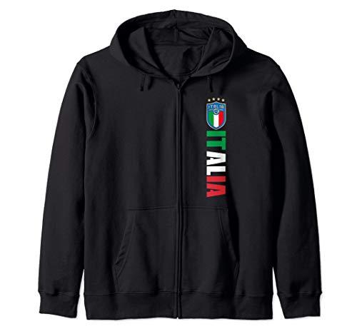 Italia Italian Flag Italiano Gli Azzurri il Tricolore Italy Zip Hoodie