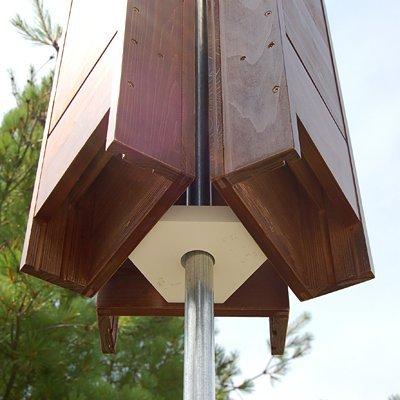 Hexagonal Bat House Pole Adapter