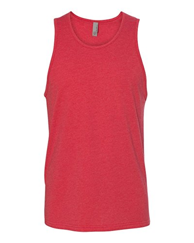 Next Level Men's Rib-Knit Sublimated Muscle Tank Top, Large, Red