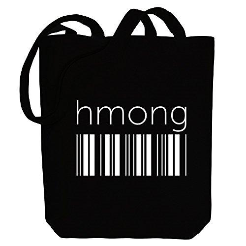 Idakoos Idakoos Hmong Canvas barcode Languages Hmong Bag Tote Languages barcode 5qvAaRx