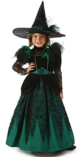Big Girls' Emerald Witch Costume Large (9-10)