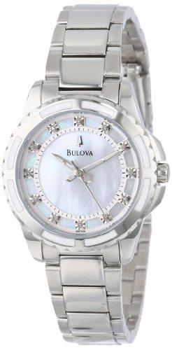 Bulova Women's 96P144 Diamond-Accented Stainless Steel Watch