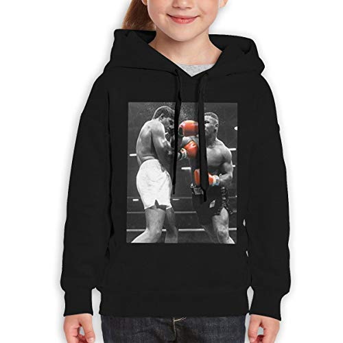 ree Youth Iron Mike Tyson Evander Holyfield 67 Fashion Hoody for Boys and Girls 31 Black ()