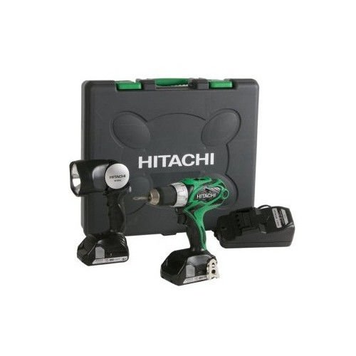 Hitachi DS18DSALR 18V Cordless HXP Lithium-Ion 2-Tool Combo Kit with 2 HXP Batteries (Certified Refurbished)