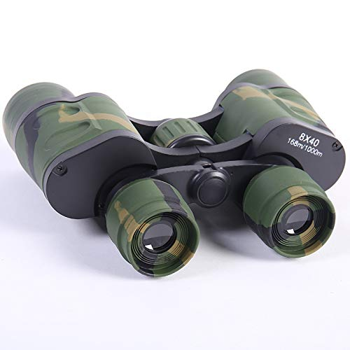 RYRYBH Fashion Light and Convenient Binoculars 8X40 Tourism Outdoor Telescope Two Fingerprints Camouflage Telescope Telescope (Size : Height 135mm Objective)