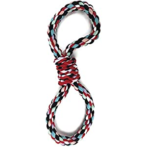 PROSPERITY DEVINE Colorful Rope Dog Toy 14 in. Click on image for further info.