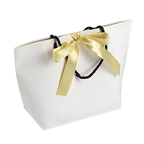 (Price/10 PACK)Aspire Golden Ribbon Bowknot Paper Gift Bags(S-XL)-S- 300 PACK by Aspire